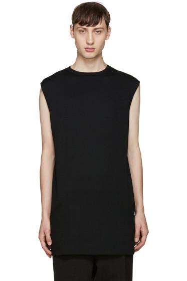 Thamanyah - Black Wool T-Shirt