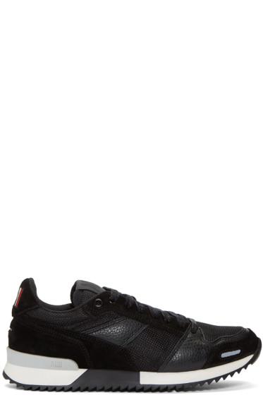 AMI Alexandre Mattiussi - Black Mesh & Leather Sneakers