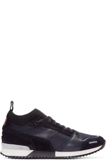 AMI Alexandre Mattiussi - Navy Suede & Mesh Sneakers