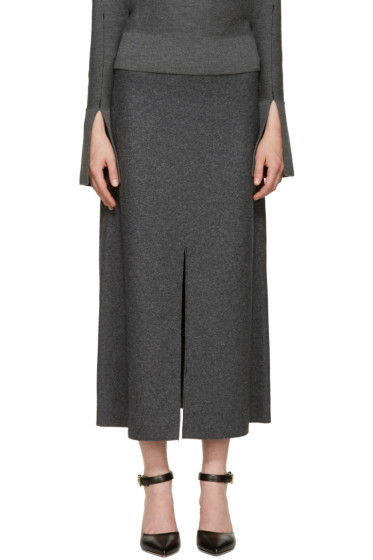 Calvin Klein Collection - Grey Wool Hova Skirt