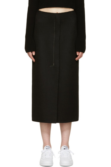 Calvin Klein Collection - Black Cashmere Haokin Skirt
