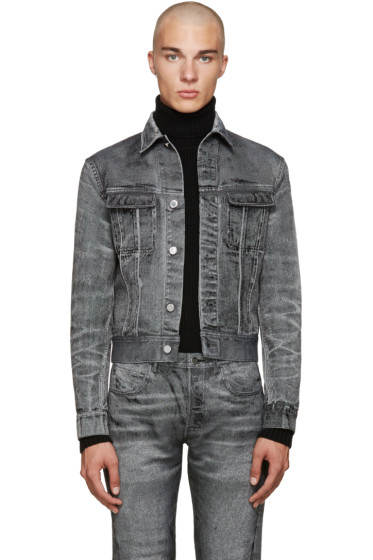 Calvin Klein Collection - Grey Denim London Jacket