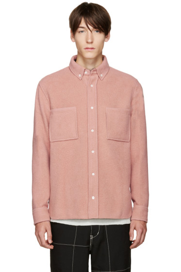Tim Coppens - Pink Wool Worker Shirt