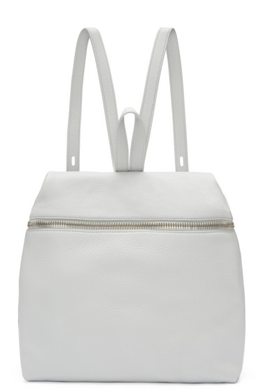 Kara - Grey Leather Backpack