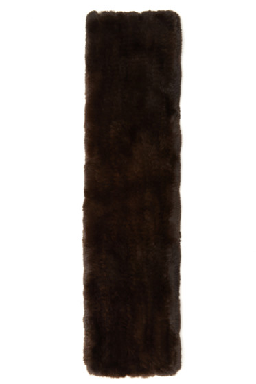 Yves Salomon - Brown Knit Fur Scarf