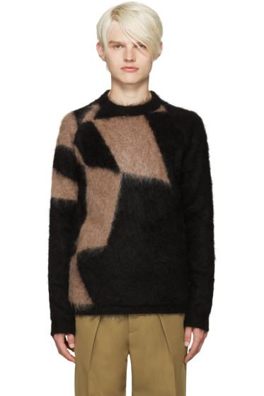 Kolor - Black & Tan Mohair Sweater