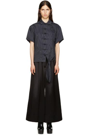 Facetasm - Black Pinstripe Shirt