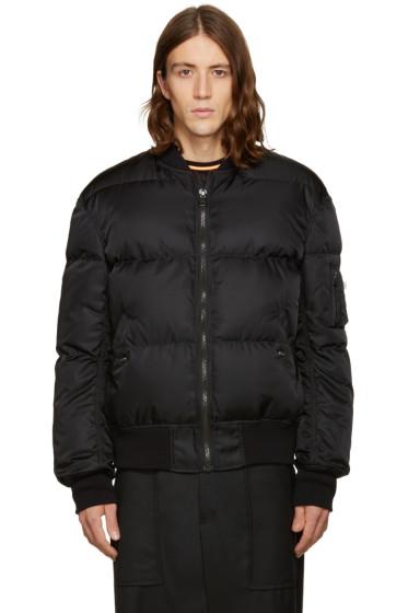 Facetasm - Black Down Bomber Jacket