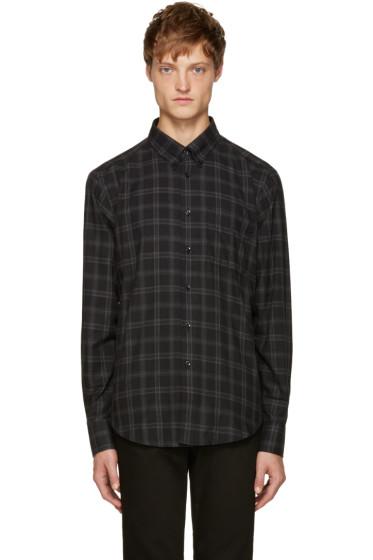 Naked & Famous Denim - Black Plaid Flannel Shirt