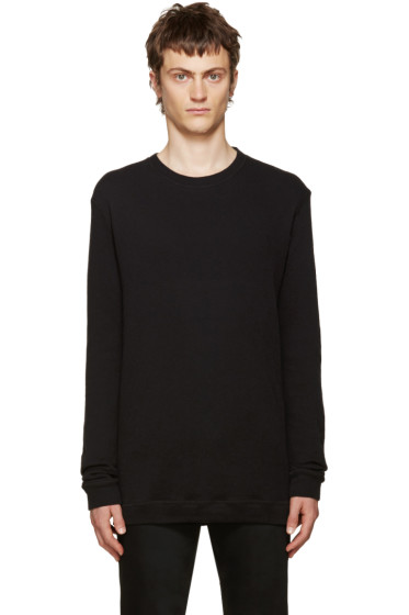 Naked & Famous Denim - Black Double-Face Crewneck
