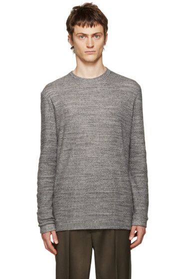 Naked & Famous Denim - Grey Double-Face Crewneck