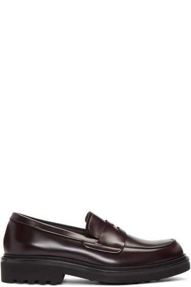Robert Clergerie - Burgundy Chile Loafers