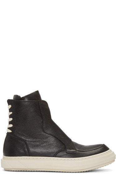 D.Gnak by Kang.D - Black Lace Heel Boots