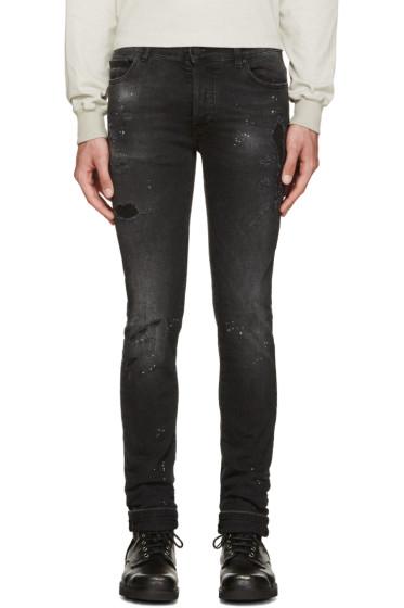 Marcelo Burlon County of Milan - Black Distressed Jeans
