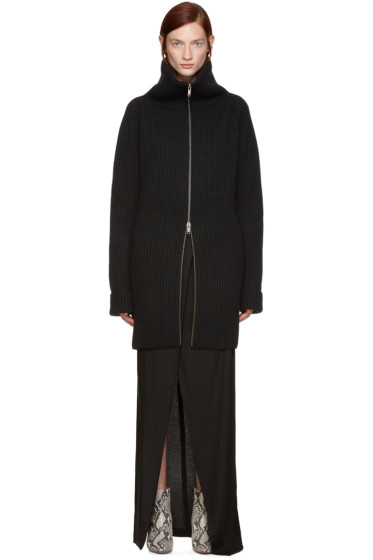 Haider Ackermann - Black Zip Cardigan