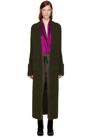 Haider Ackermann - Green Long Mohair Cardigan