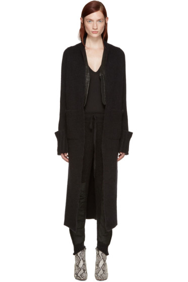 Haider Ackermann - Black Long Mohair Cardigan