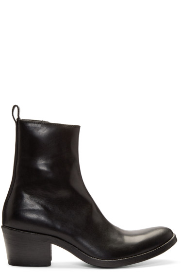 Haider Ackermann - Black Leather Boots