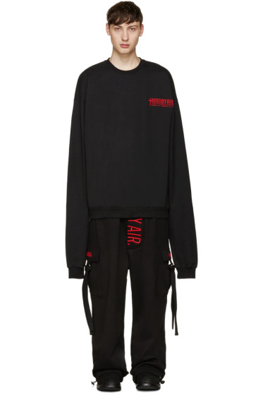 Hood by Air - Black Oversized Pullover