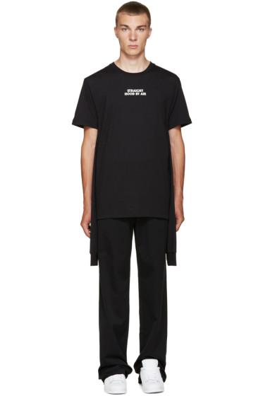 Hood by Air - Black Logo Combo T-Shirt