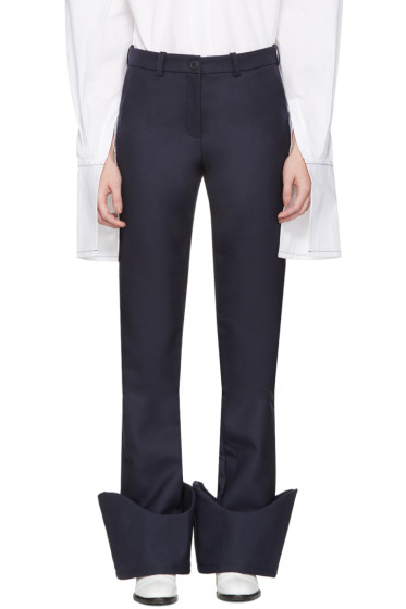 Jacquemus - Navy 'Le Pantalon à Revers' Trousers