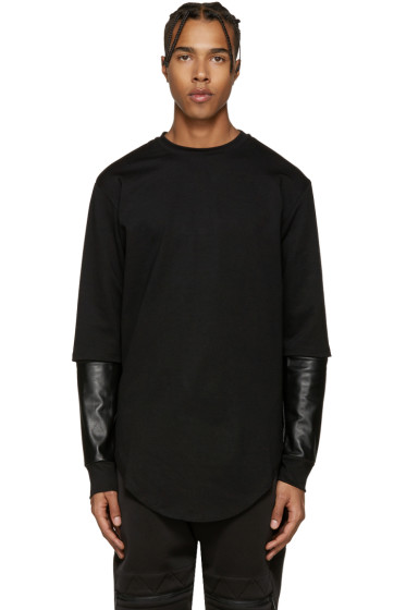 Pyer Moss - Black Layered Sleeves Pullover
