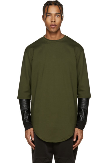 Pyer Moss - Green Layered Sleeves Pullover
