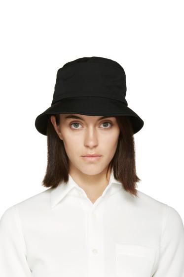 Yohji Yamamoto - Black Wool Cloche Hat