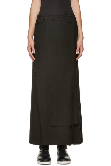 Yohji Yamamoto - Black Zippered Wrap Skirt