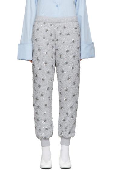 Ashish - SSENSE Exclusive Grey Sequin Lounge Pants