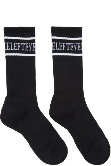 Christian Dada - Black 'Love on the Left Eye' Socks