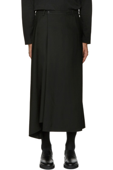 Lad Musician - Black Cropped Flare Trousers