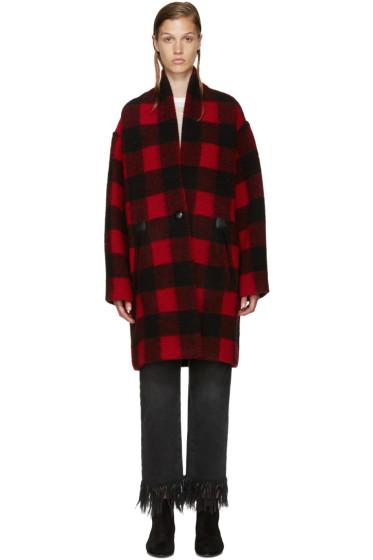 Isabel Marant Etoile - Black & Red Gabrie Coat