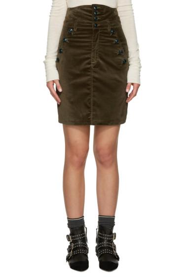 Isabel Marant - Brown Velvet Nelly Skirt