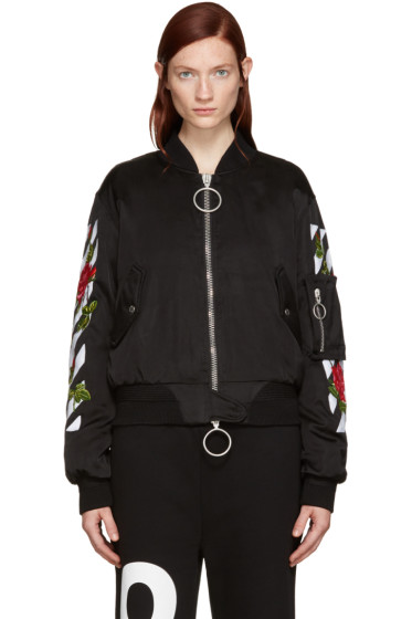 Off-White - Black Roses Bomber Jacket