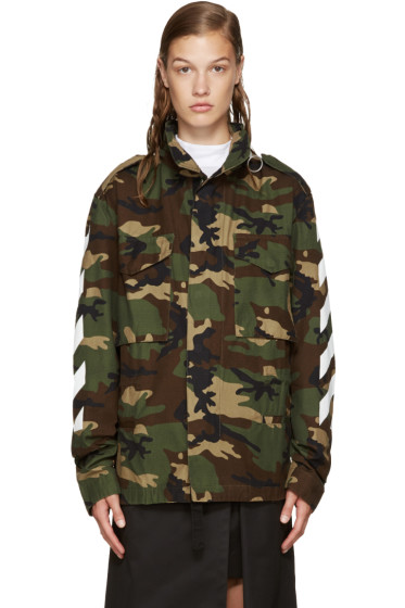 Off-White - Green Camouflage M65 Jacket