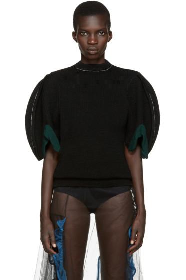 Toga - Black Puff Sleeve Sweater