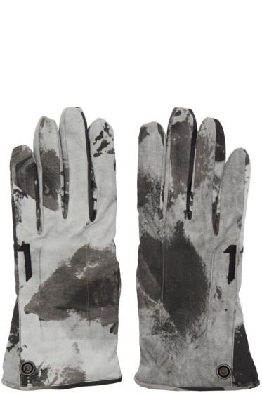 11 by Boris Bidjan Saberi - Black Camo Wash Gloves