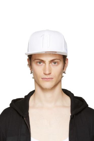 11 by Boris Bidjan Saberi - White Logo Cap