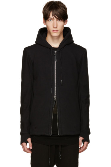 11 by Boris Bidjan Saberi - Black Zip-Up Hoodie
