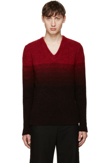 Johnlawrencesullivan - Red Gradient Sweater