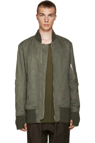 Nude:mm - Khaki Bomber Jacket