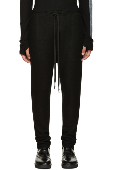 Nude:mm - Black Wool Lounge Pants