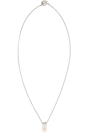 Pearls Before Swine - Silver & Gold Triple Thorn Necklace