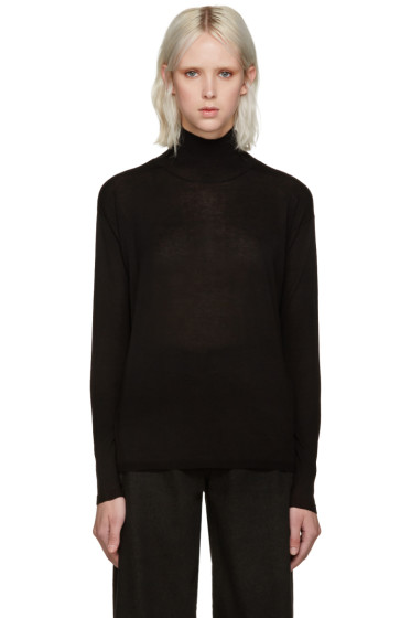 Won Hundred - Black Mock Neck Live Sweater