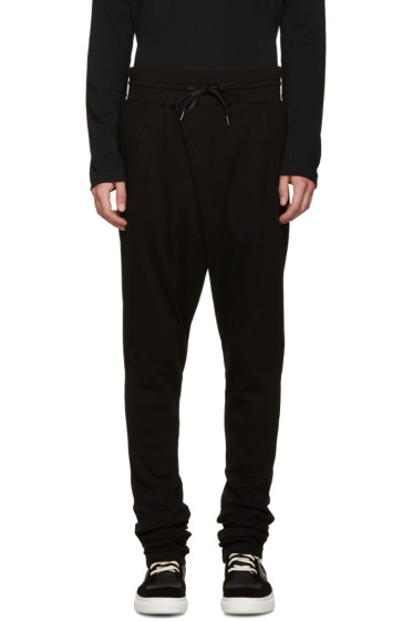 D by D - Black Wrap Front Lounge Pants