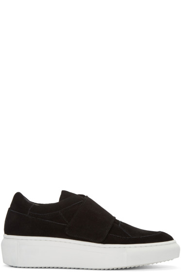 D by D - Black Suede Velcro Sneakers