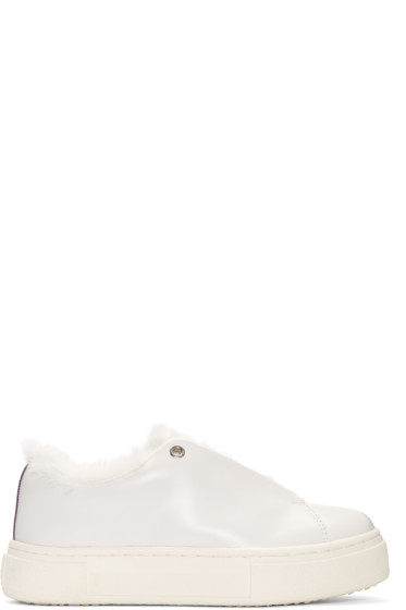 Eytys - White Leather Doja Arctic Sneakers