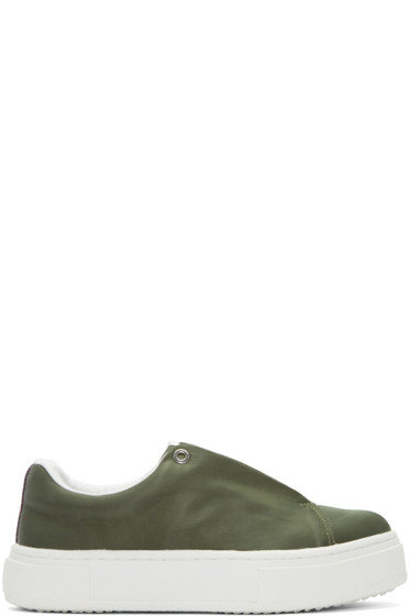 Eytys - SSENSE Exclusive Green Nylon Doja Sneakers