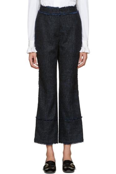 Erdem - Blue Plaid Verity Trousers